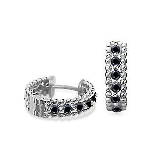 Earrings Vanity Black Diamonds and 18K Gold - White Gold