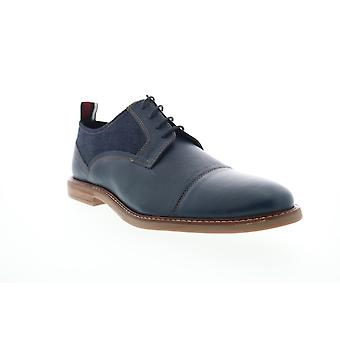 Ben Sherman Birk Cap Toe  Mens Blue Leather Casual Lace Up Oxfords Shoes