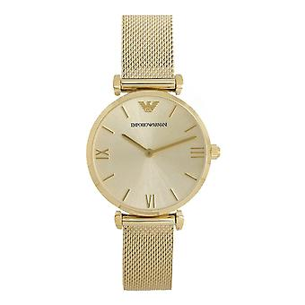 Armani Watches Ar1957 Gold Mesh Strap Women's Watch