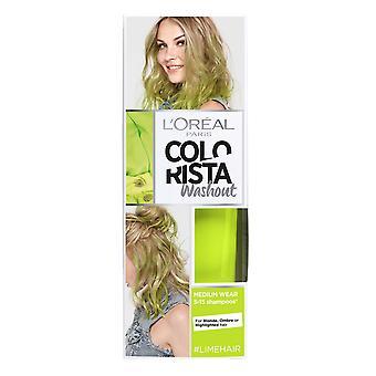 L'Oreal Colorista Washout Haarfärbemittel 5-15 Shampoos 80ml Lime Hair