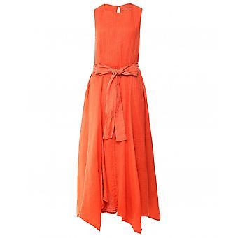 Grizas Linen Tie Waist Maxi Dress