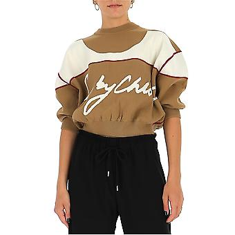 See By Chloé Chs20amp1054024j Women's Beige Cotton Sweatshirt