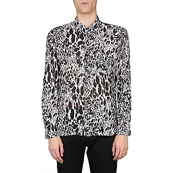 Saint Laurent 599291y1a698566 Heren's Wit/zwart Katoenen Shirt
