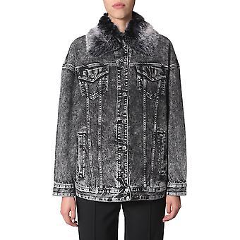 Michael von Michael Kors Mh91ey5edx001 Damen's schwarze Baumwolle Outerwear Jacke