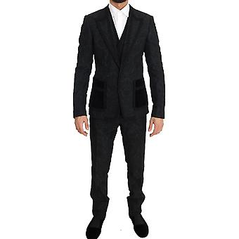 Dolce & Gabbana Black Torrero Slim 3 Piece One Button Pak