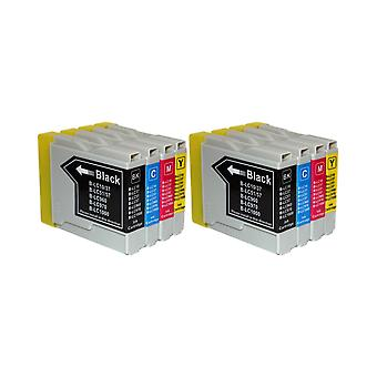 RudyTwos 2x Replacement for Brother LC-970 Set Ink Unit Black Cyan Magenta & Yellow Compatible with DCP-130C, DCP-135C, DCP-150C, DCP-153C, DCP-155C, DCP-157C, DCP-260C, DCP-330C, DCP-350C, DCP-353C,