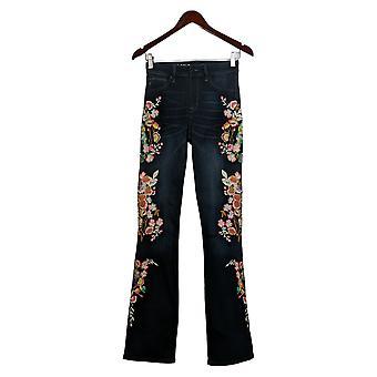 Laurie Felt Women's Tall Denim Embroidered Boot-Cut Jeans Blue A353002