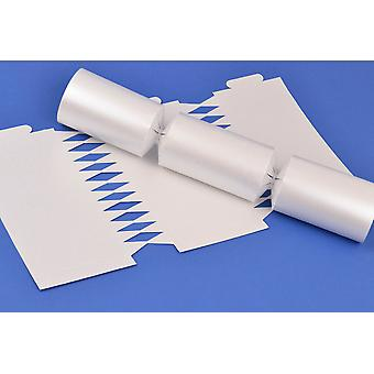 12 Pearlescent White Make & Fill Your Own DIY Recyclable Christmas Cracker Boards
