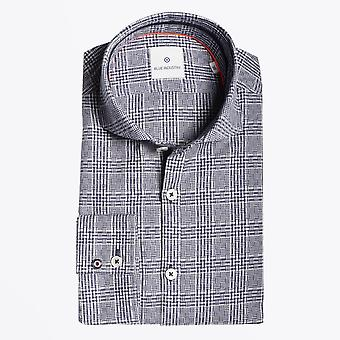 Blue Industry  - Cotton Checked Shirt - Navy/White