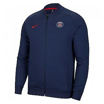 2020-2021 PSG Fleece Track Jacket (Navy)