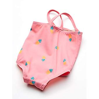 Essentials Baby Girls One-Piece Swimsuit, Pink Pineapple, 12M