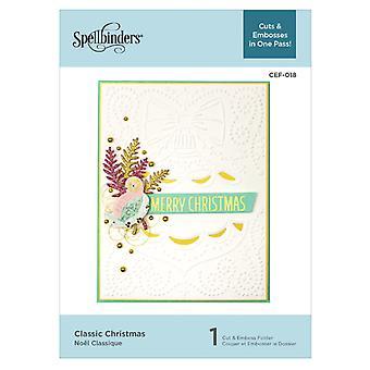 Spellbinders Klasyczny Świąteczny Cut & Folder płaskorzeszowy