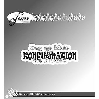 By Lene Danish Text 6 Clear Stamps