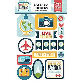 Echo Park Go. See. Explore. Layered Stickers