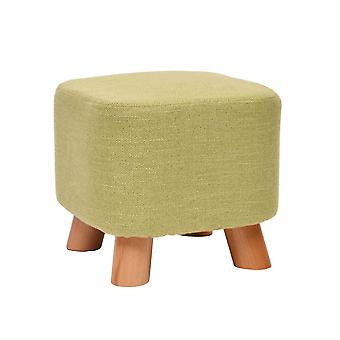 YANGFAN Solid Wood Small Square Creative Changing Shoes Tabouret