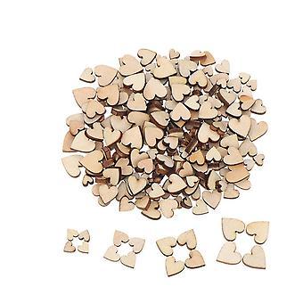 200Pcs Unfinished Wooden Pendants Ornaments