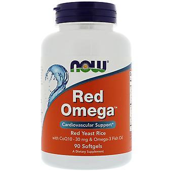 Jetzt Lebensmittel, Red Omega, Roter Hefereis mit CoQ10, 30 mg, 90 Softgels