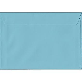 Pastel blå skræl/segl C6/A6 farvet blå konvolutter. 100gsm FSC bæredygtig papir. 114 mm x 162 mm. tegnebog stil kuvert.