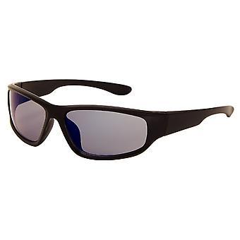 Gafas de sol Unisex negro mate con lente de espejo (AZ-170)
