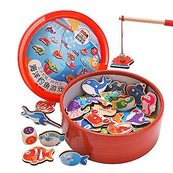 Magnetic Fishing Wooden-intellectual Game