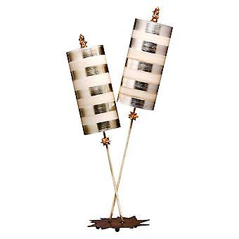 Elstead Nettle Luxe - 2 Lampes légères, Feuille d'argent, E27
