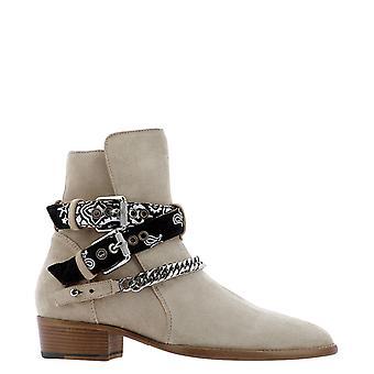 Amiri W0f20347sutan Men's Beige Suede Ankle Boots