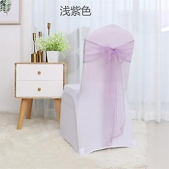 Romantic Organza Chair Sashes Band Ribbon For Banquet Hotel Wedding Party