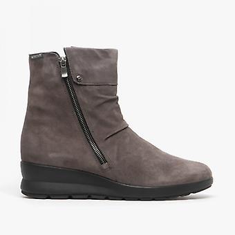 Mephisto Phila Ladies Leather Ankle Boots Grey
