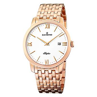 Candino Swiss C4418-2 Men's Rose Gold Tone Bracelet Wristwatch