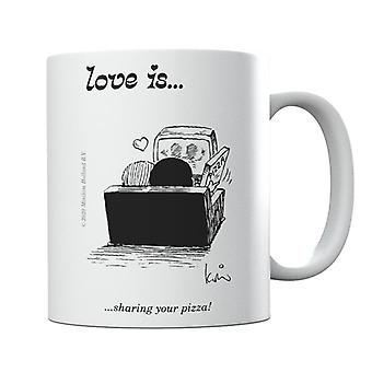 Love Is Sharing Your Pizza Mug