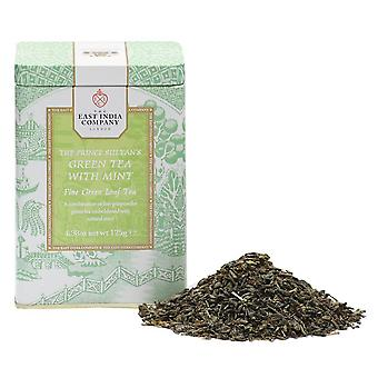 The Prince Sultan's Green Tea with Mint Loose Leaf Tea Caddy 125g
