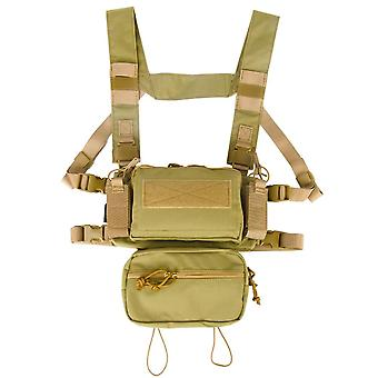 Tactical Micro Chest Rig- Modular H Harness, d3cr Pack Sack Pouch Combat Vest,