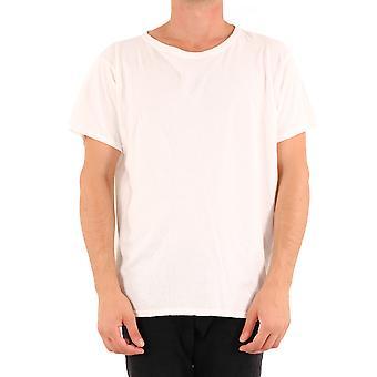 Greg Lauren Am124white Men's White Cotton T-shirt