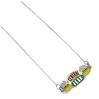 Friends Silver Plated Central Perk Logo Pendant Necklace