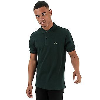 Lacoste mænd's grønne marl kortærmet polo shirt