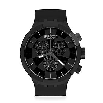 Színminta Sb02b400 Nagy Merész Chrono Ellenőrzőpont Fekete Szilikon Watch