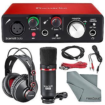 Focusrite scarlett solo studio kit bundle ?contains focusrite scarlett solo u...