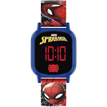 Spiderman Kvartsi Digitaalinen Dial Silikoni Hihna Pojat Katsella SPD4602