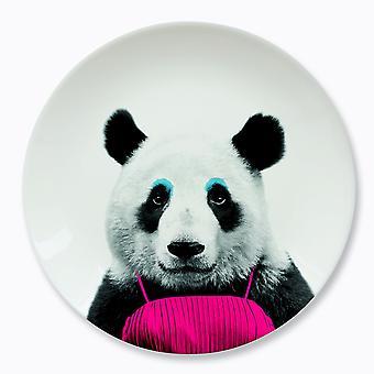 Mustard - wild dining - patricia panda ceramic dinner plate