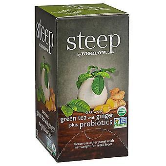 Bigelowin jyrkkä orgaaninen vihreä tee Ginger Plus -probiooteilla