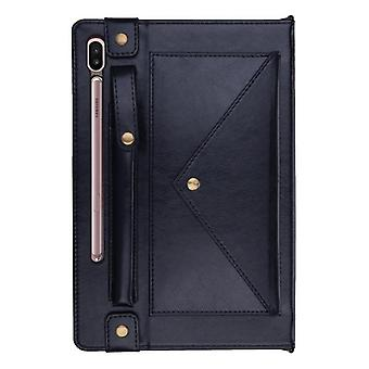 Leather Anti-fall case for Samsung Galaxy Tab S6 10.5 T860 T865 navy blue