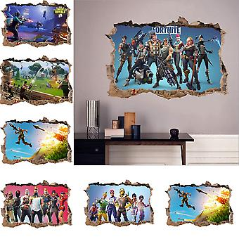 Game 3d Wall/bedroom /living Room Decoration, Night Poster Wall Stickers Room