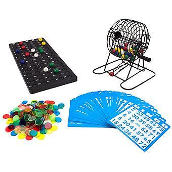 """デラックス 6"""" ビンゴゲーム/色付きボール、300チップ、50枚のカード"""