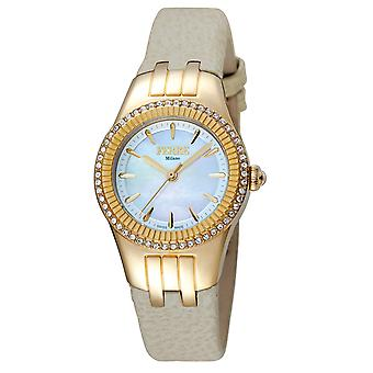 Ferre Milano FM1L089L0021 Women's Silver Dial Calfskin Leather Watch