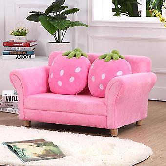 Mini Korean Cartoon Strawberry Small Sofa For Baby Room Decoration Chair