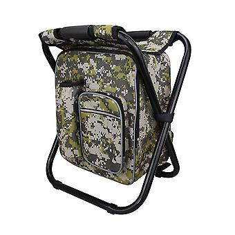 Digital Camouflage 36x29x41cm Compact Multi-function Backpack Picnic Pack Stool
