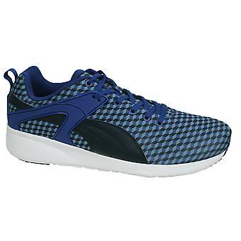 Puma Aril Blaze Eğitmenler Bağcıklı Erkekler Mavi Geometrik Eğitmenler 359787 02 X39B