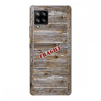 Scafo per Samsung Galaxy A42 5g Silicone Soft 1 Mm, custodia in legno