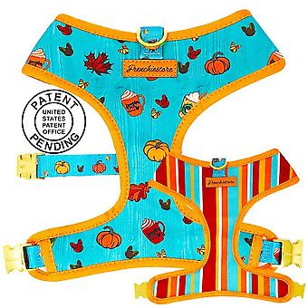Frenchiestore Reversible Dog Health Harness | Pumpkin Spice Pupcup