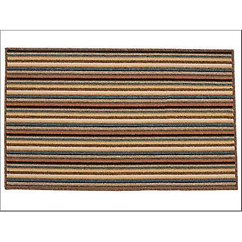 Dandy Ios Striped Mat Brown 100 x 67 cm